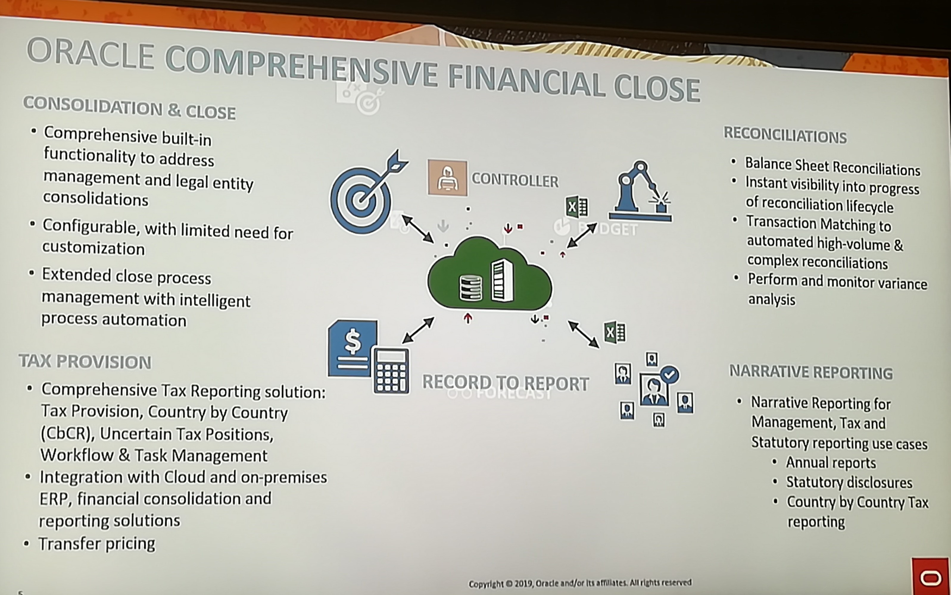 Oracle Open World 2019 - Oracle Comprehensive Financial Close