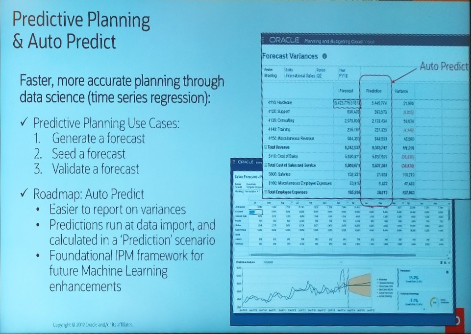 Oracle Open World - Predictive planning