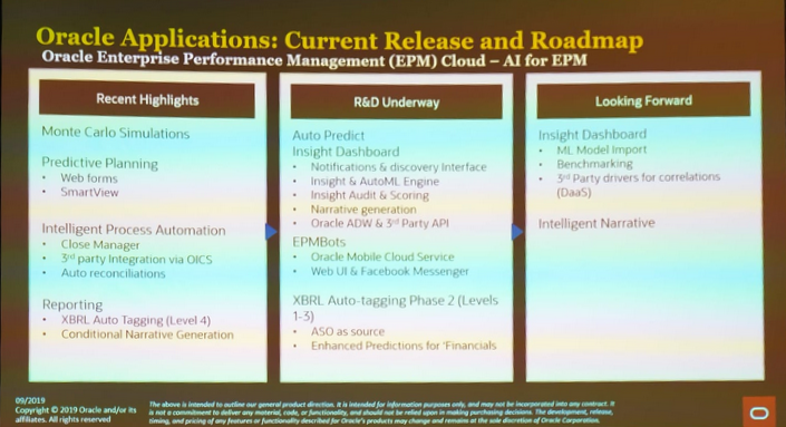 Oracle Open World - Oracle Applications Current release and roadmap